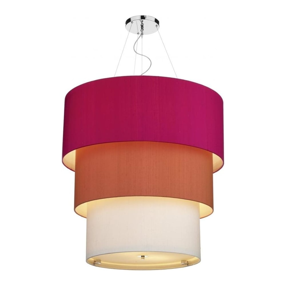 Renoir 3 Tier Ceiling Pendant Pink/Orange/Sea Mist Shade REN2399  sc 1 st  The Home Lighting Centre & Light Shade Studio Renoir 3 Tier Ceiling Pendant Pink/Orange/Sea ...
