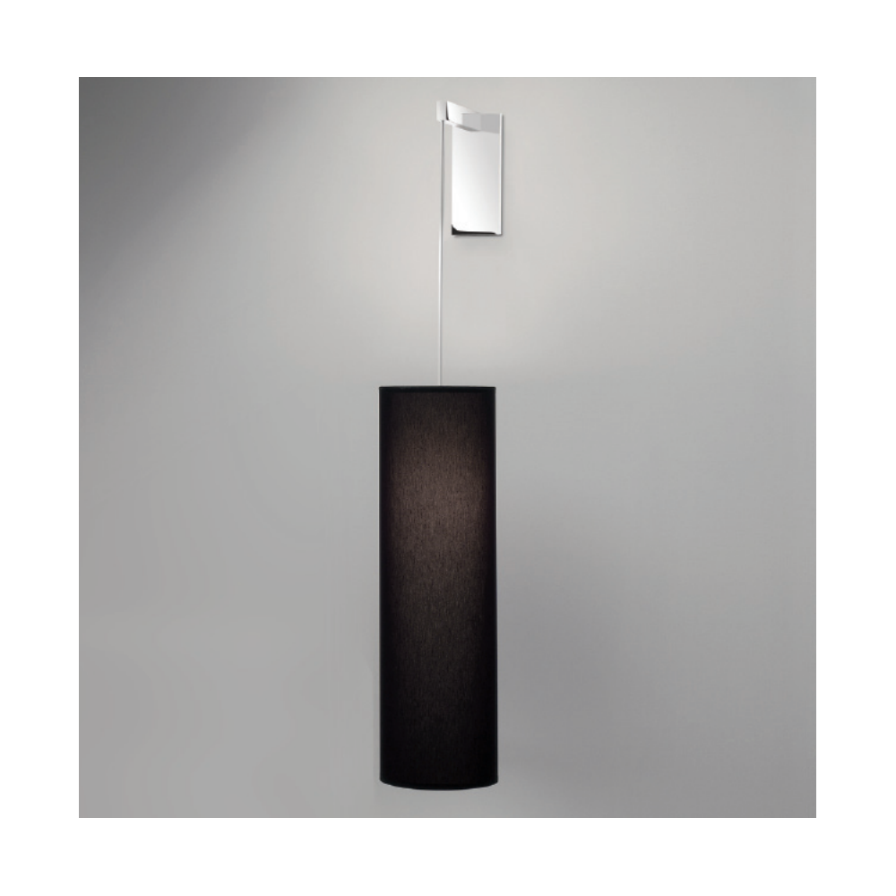 Rocca Polished Chrome Wall Light with Black Shade 7034 + 4088