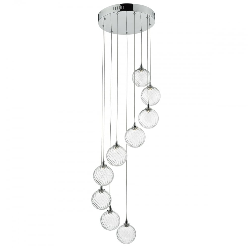 Toulouse glass ceiling pendant light in polished chrome led tou1350 toulouse glass ceiling pendant light in polished chrome led tou1350 aloadofball Images
