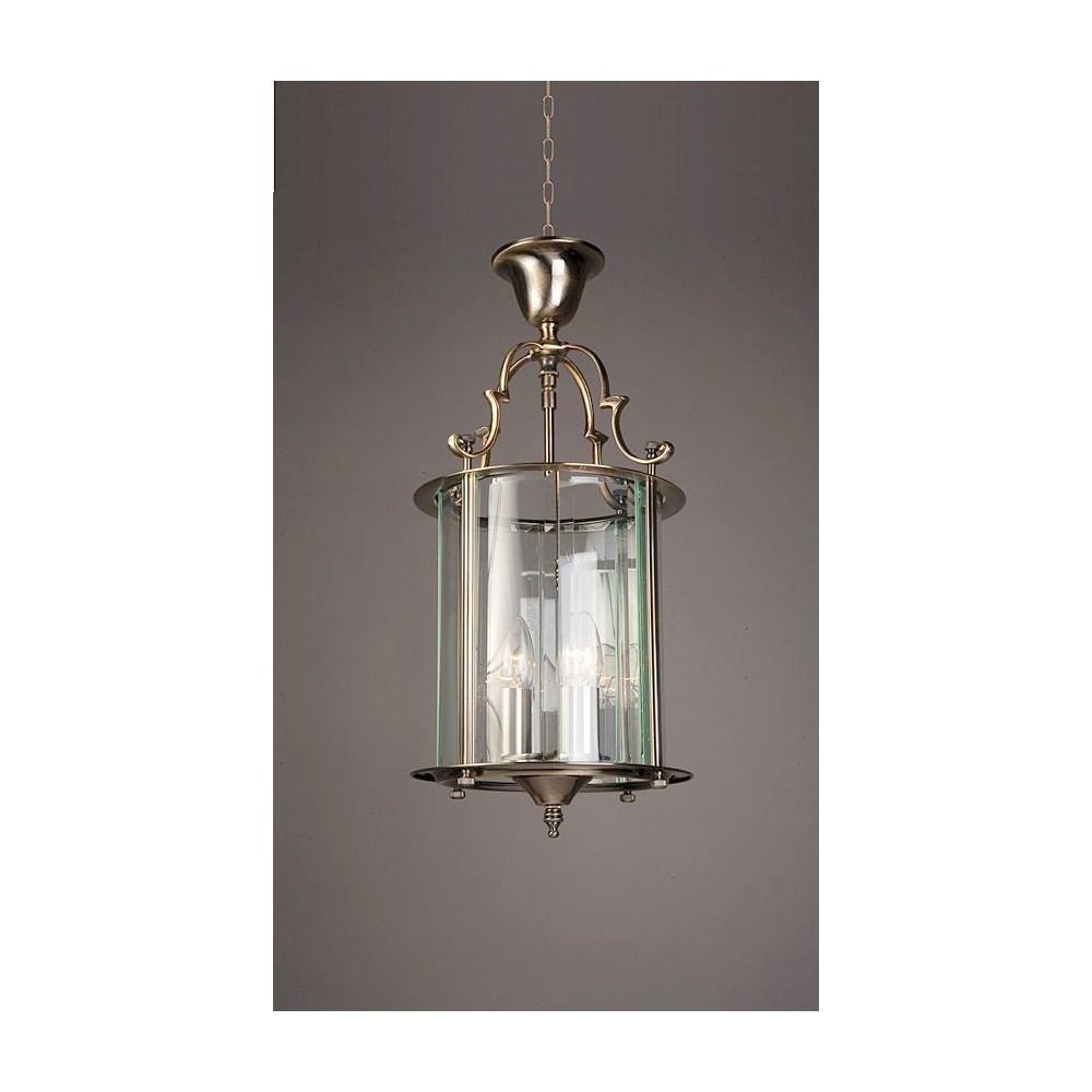 Traditional Solid Brass Round Hall Ceiling Lantern
