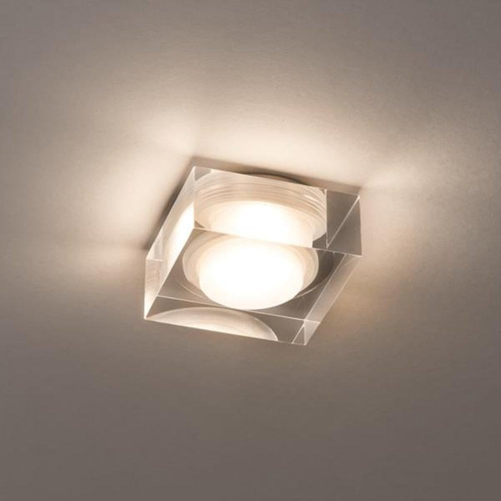 Vancouver 90 Square Glass Flush Bathroom Ceiling Light 5698 ...