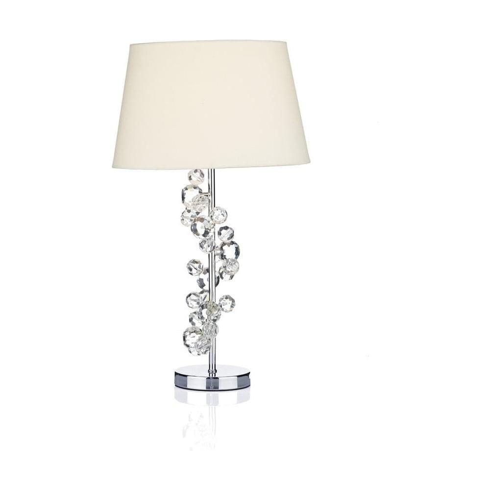DIX4250 Dixie Modern Crystal & Chrome Table Lamp with ...