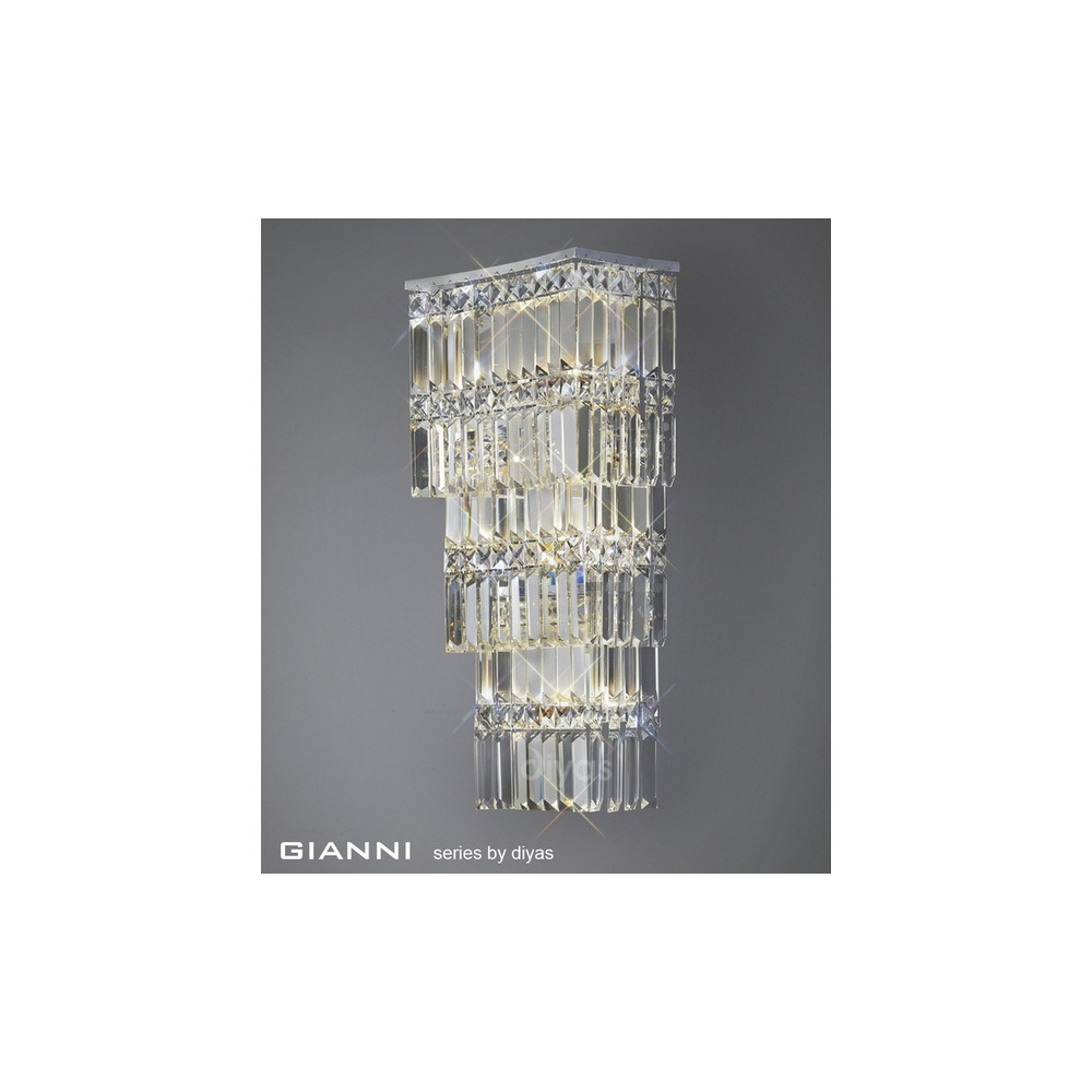 Diyas Lighting IL30640 Gianni 4 Light Chrome & Crystal Wall Light - Diyas Lighting from The Home ...