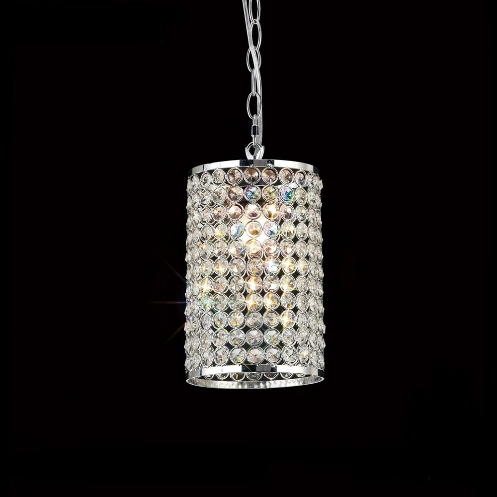 Il60002 Kudo Chrome And Crystal Non Electric Pendant
