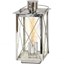 Donmington Vintage Table Lantern In Chrome Finish 49279