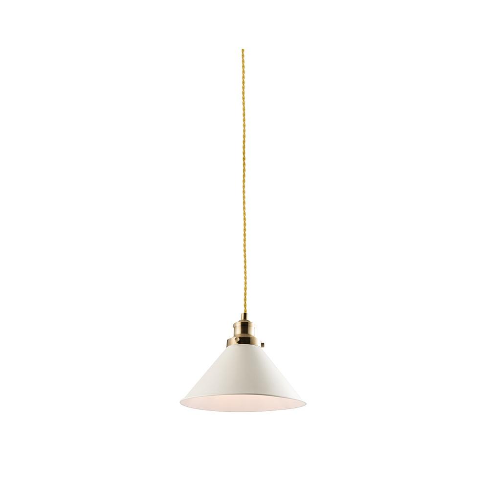 Endon downton modern ceiling pendant light in white finish for Modern white pendant lighting