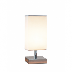 Drayton Touch Table Lamps in chrome complete with Shade