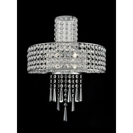 Duchess Stunning 4 Light Crystal Wall Light In Polished Chrome Finish FL2381-4