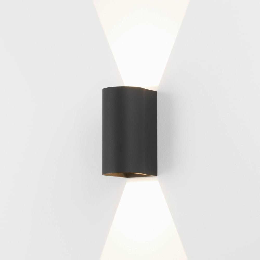 Astro lighting dunbar led 160 contemporary outdoor wall light in black finish 1384004