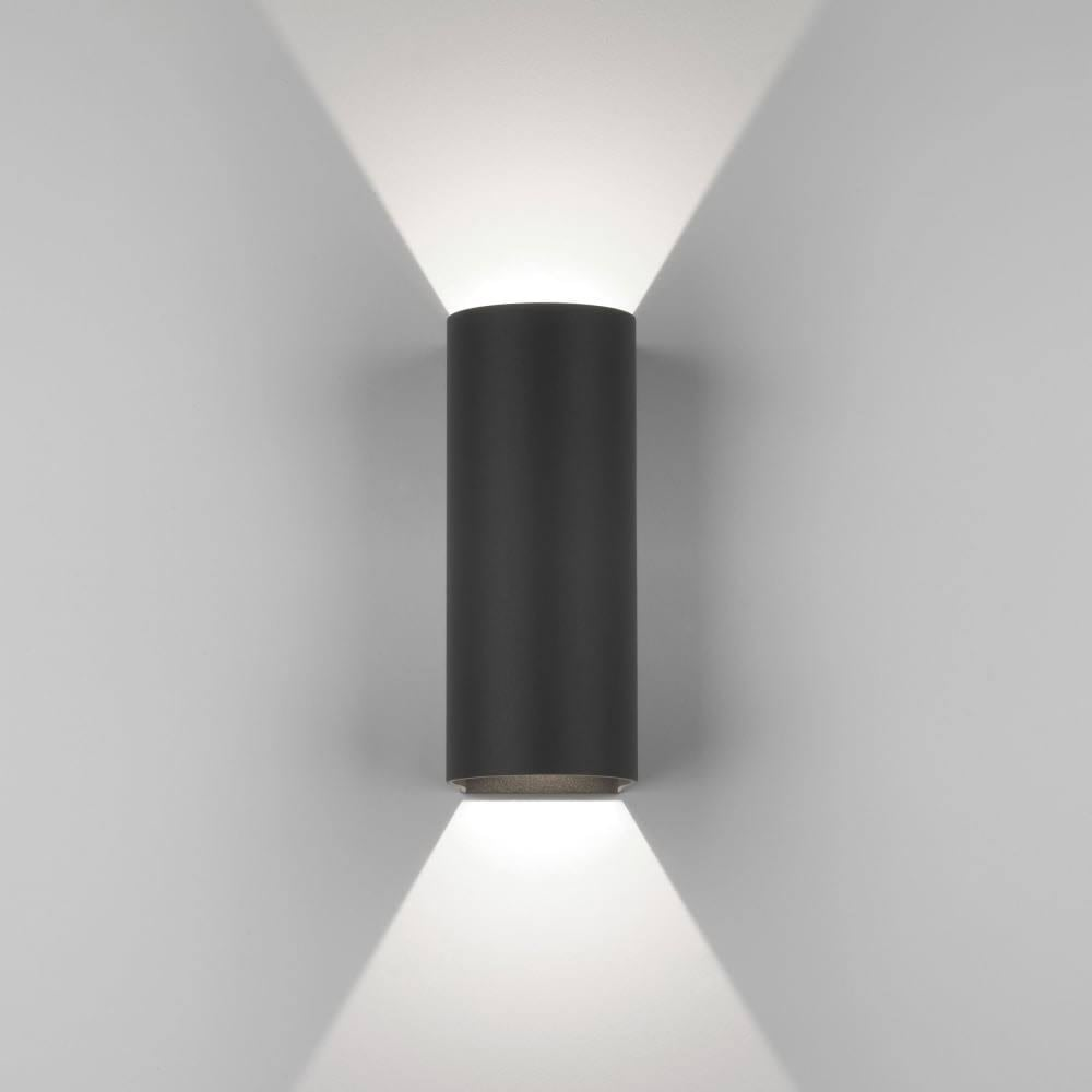 Dunbar led 255 contemporary outdoor wall light in black finish 1384005