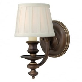 Dunhill 1 Light Royal Bronze Wall Light with Shade HK/DUNHILL1