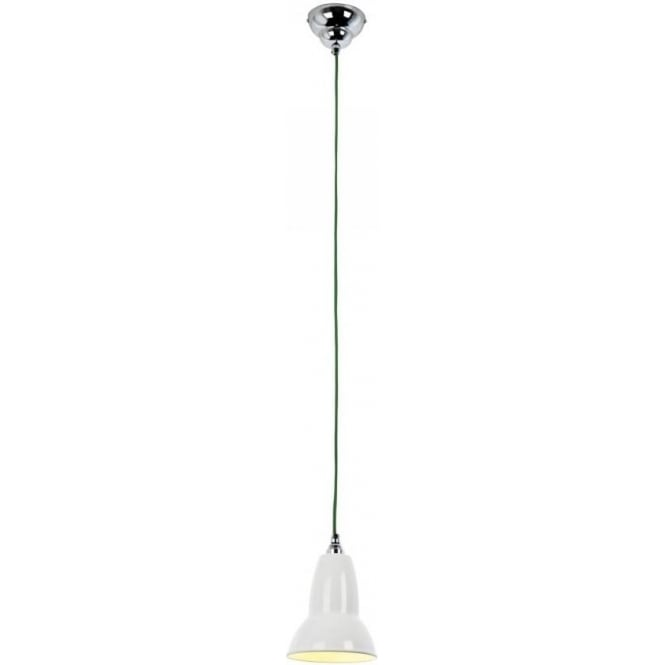 Anglepoise DUO Pendant Alpine White, Green Cable
