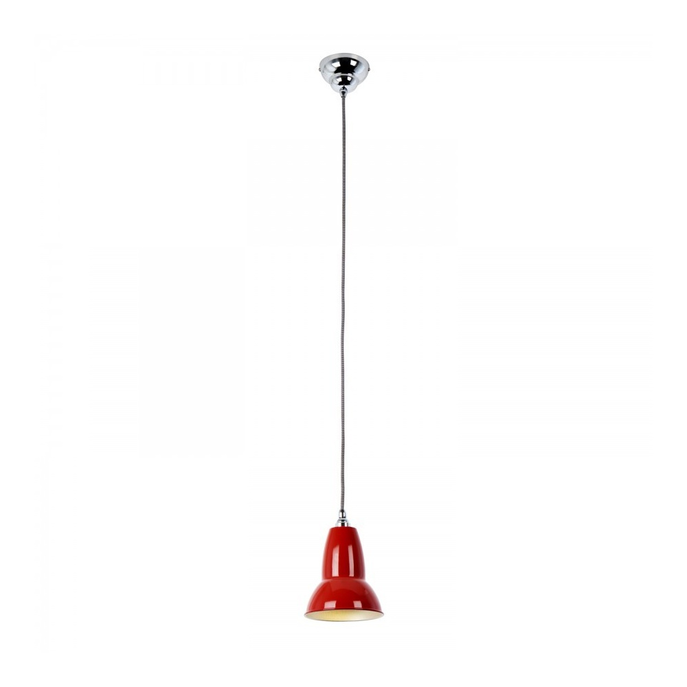 DUO Pendant In Signal Red White Black Cable