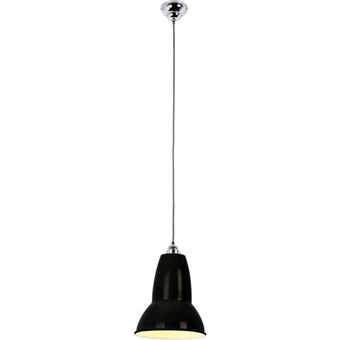 Anglepoise DUO Pendant MAXI In Jet Black, White/Black Cable