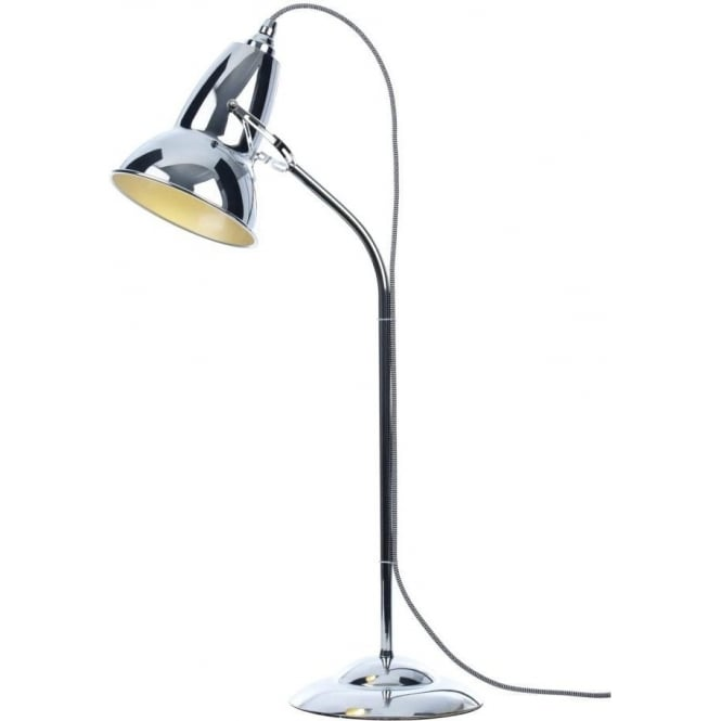 DUO Table Lamp in Chrome with Black/White Cable Braid