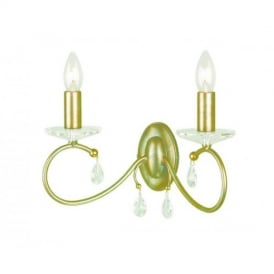 DY2 double Silver/Gold Darcy wall light
