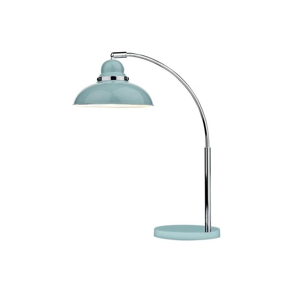 Dar Lighting Dyn4223 Dynamo 1 Light Blue Gloss Table Lamp