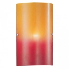 83204 Troy1 1 Light Red and Orange Wall Light