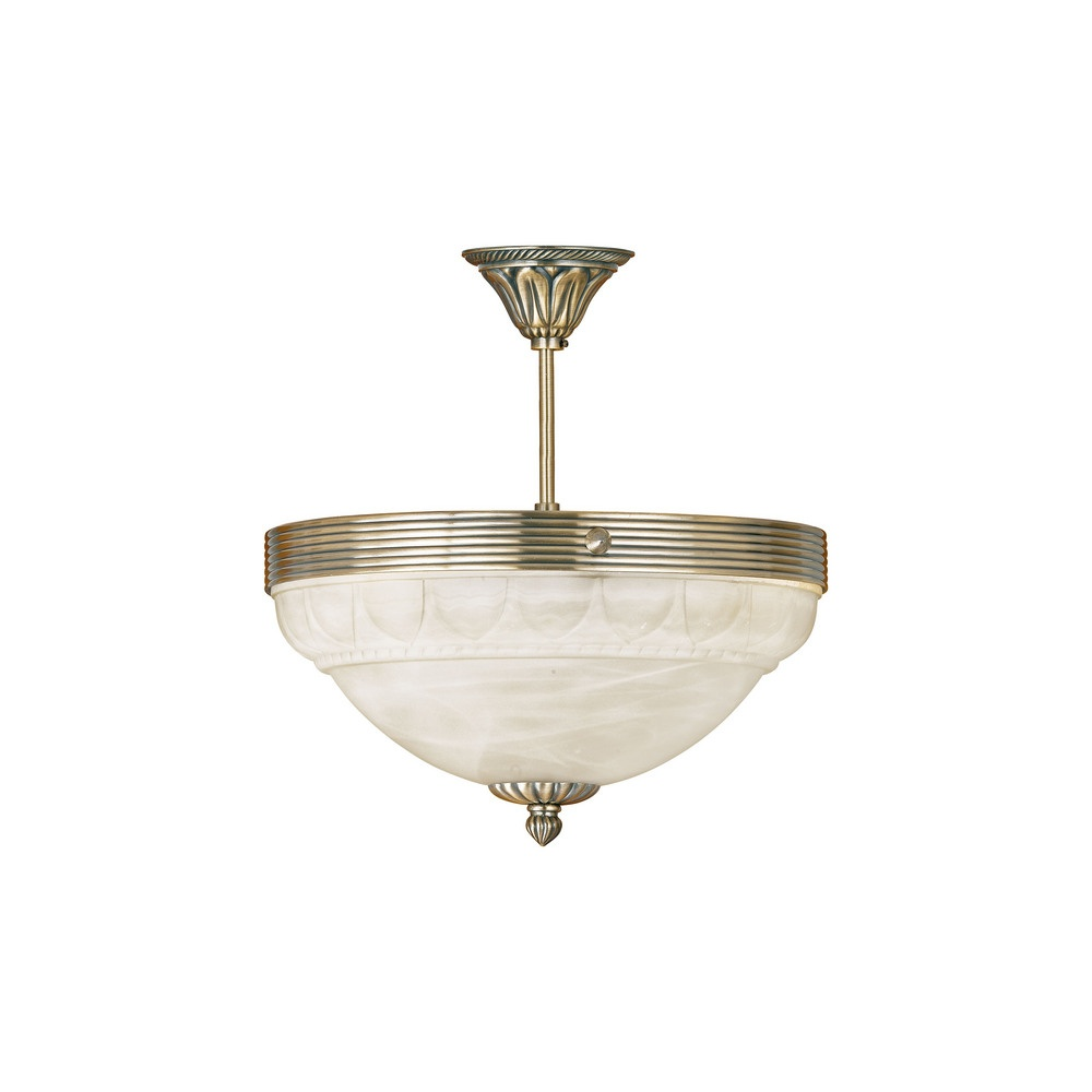 Eglo Lighting 85856 Marbella 3 Light Semi-Flush Chandelier