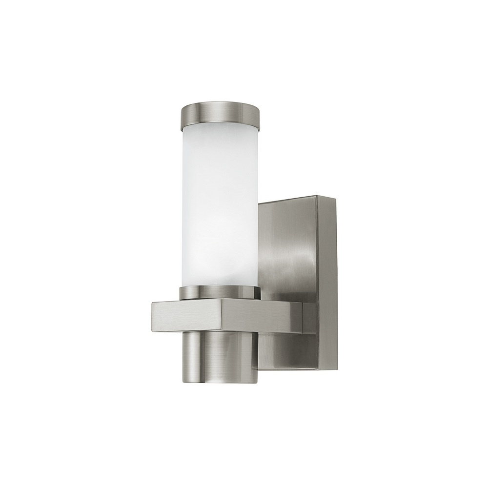 Eglo Lighting 86385 Konya Modern Outdoor Steel Wall Light In Nickel Lightin