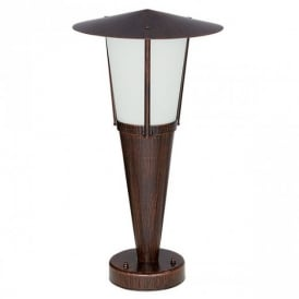 88066 San Marino Modern Pedestal Floor Lamp In Antique Brown