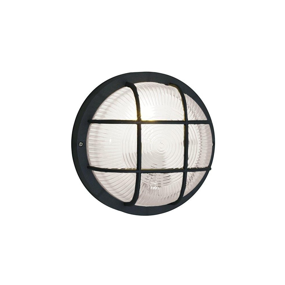 88803 Anola Outdoor Wall And Ceiling Security Light In Black Lighting From