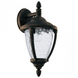 92233 Abira Traditional Hanging Wall Lantern In Black Gold