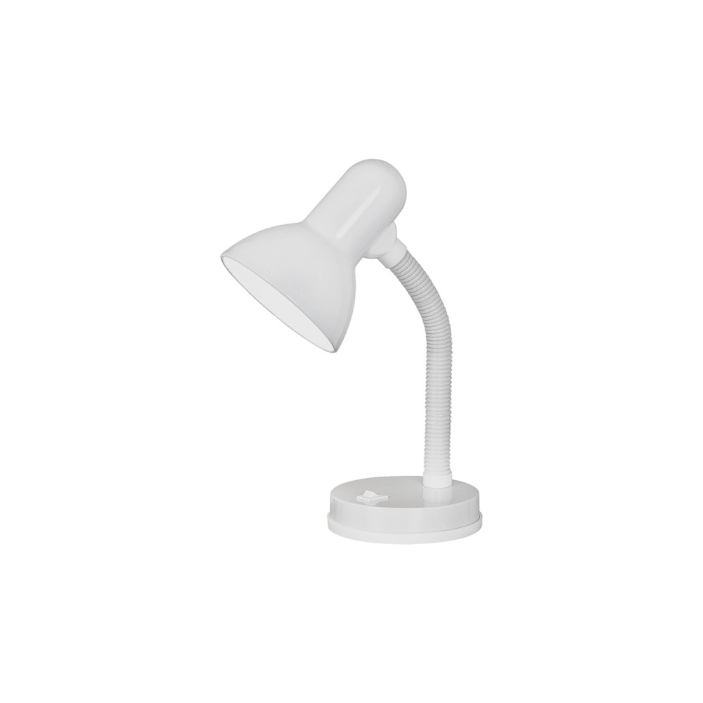 9229 Basic 1 Light White Desk Lamp