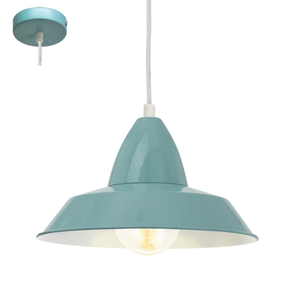 Auckland Vintage Ceiling Pendant Light In Mint Finish 49244
