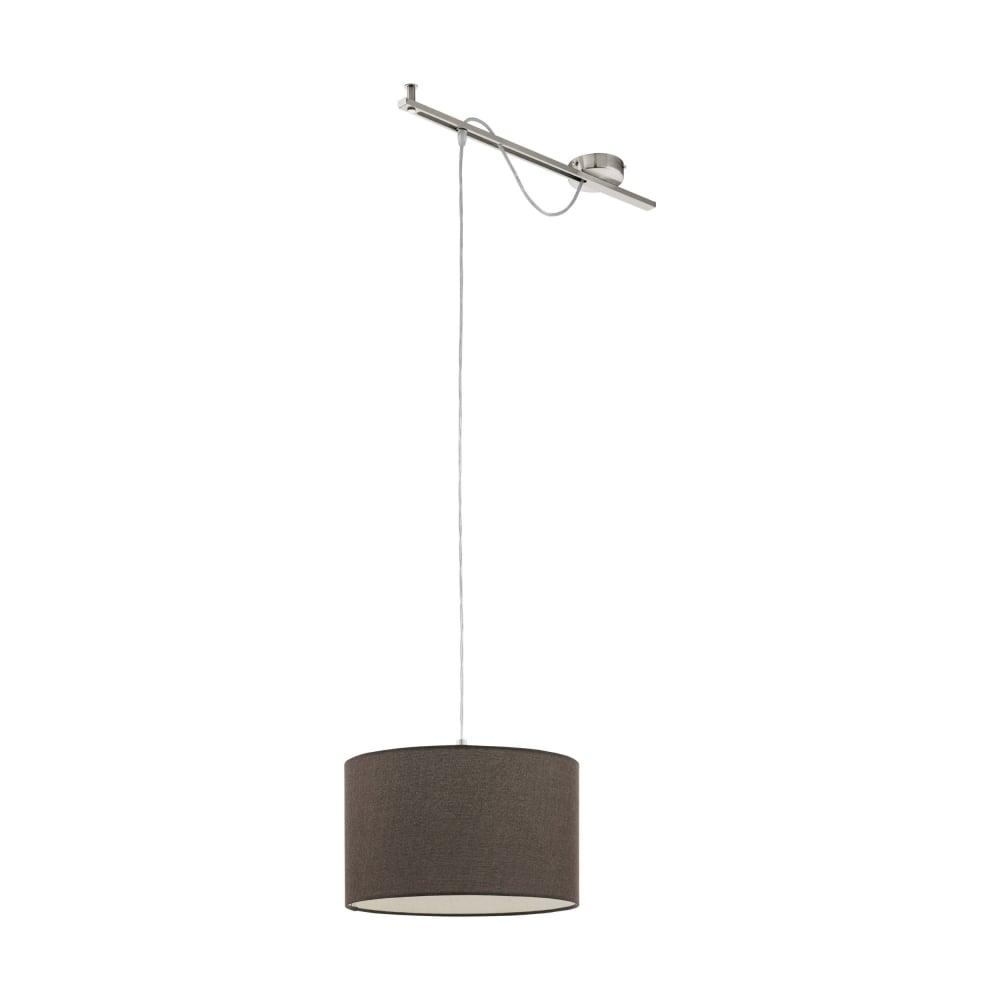 Eglo lighting calcena modern single ceiling pendant light with brown calcena modern single ceiling pendant light with brown linen shade 96797 mozeypictures Gallery