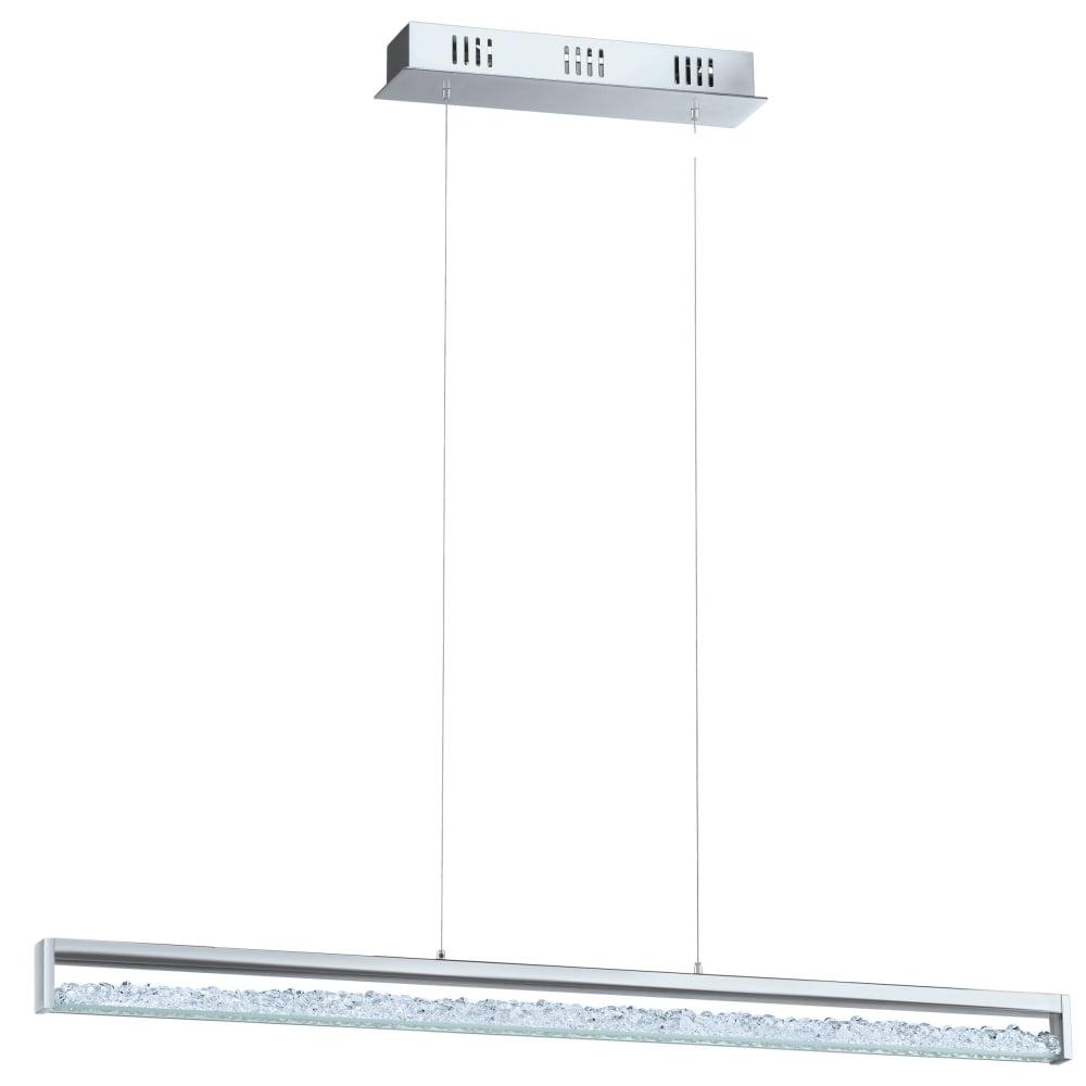 stunning lighting.  Lighting Cardito Stunning LED Large Ceiling Bar Pendant With Crystal Glass Detail  90929 On Lighting