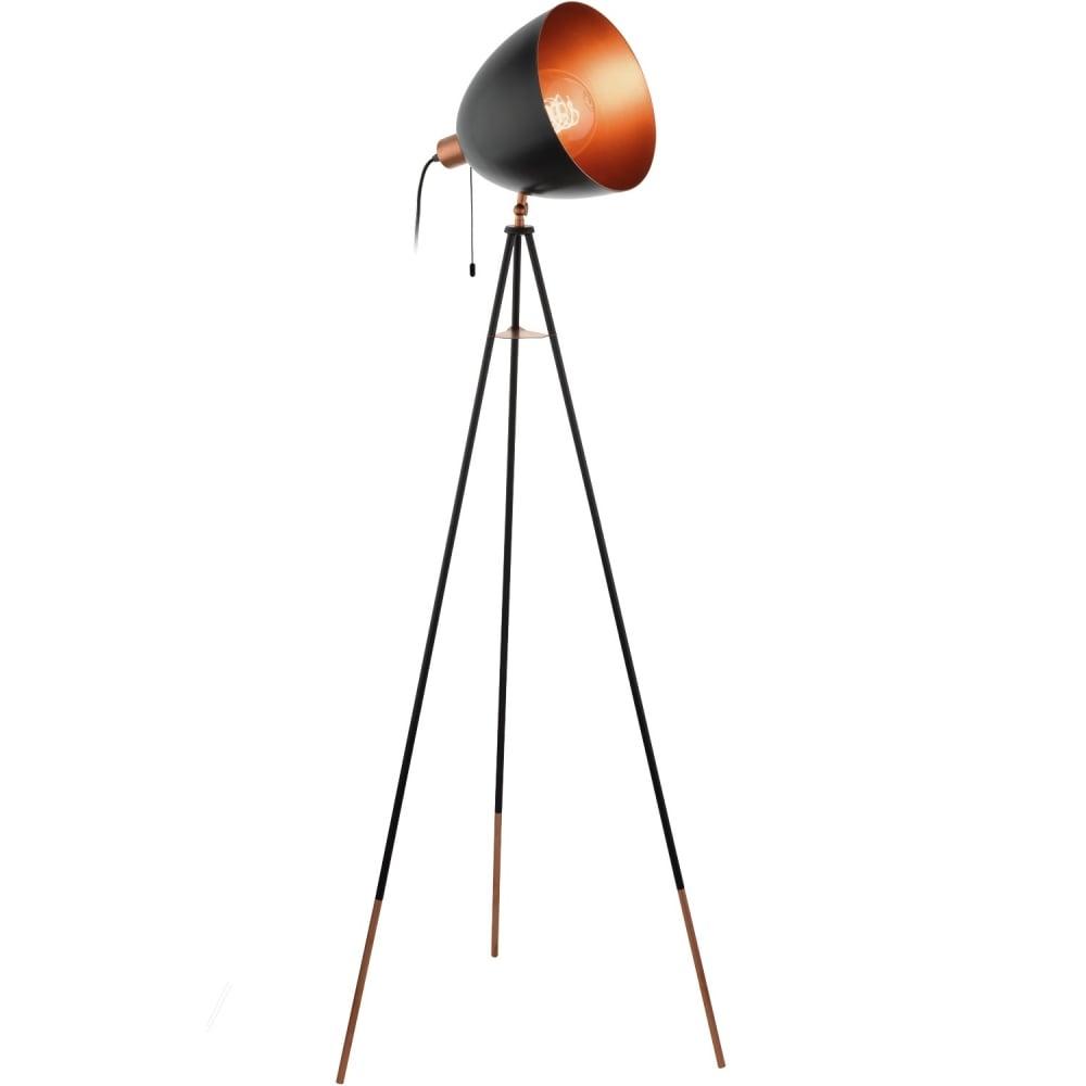 Eglo lighting chester modern floor lamp in copper and black finish chester modern floor lamp in copper and black finish 49386 aloadofball Image collections