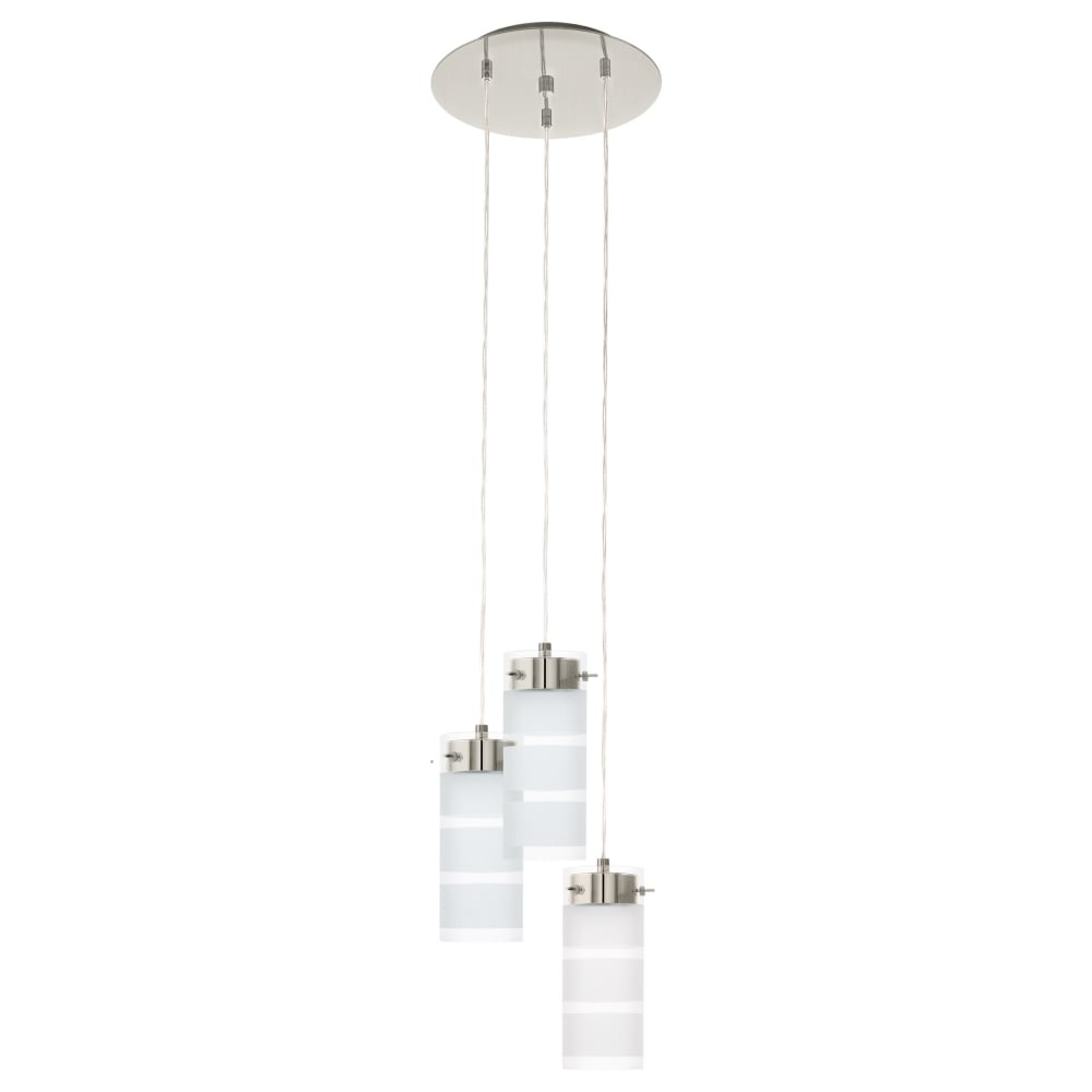 smoked finish in ceiling glass satin light farsala shades image eglo type pendant lighting with nickel