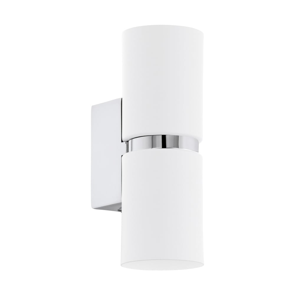 Eglo lighting passa contemporary led up and down cylindrical wall passa contemporary led up and down cylindrical wall light in white finish 95368 aloadofball Images