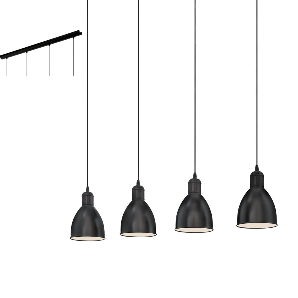 vintage track lighting. Priddy Vintage 4 Light Ceiling Bar Pendant In Black Finish 49466 Track Lighting E