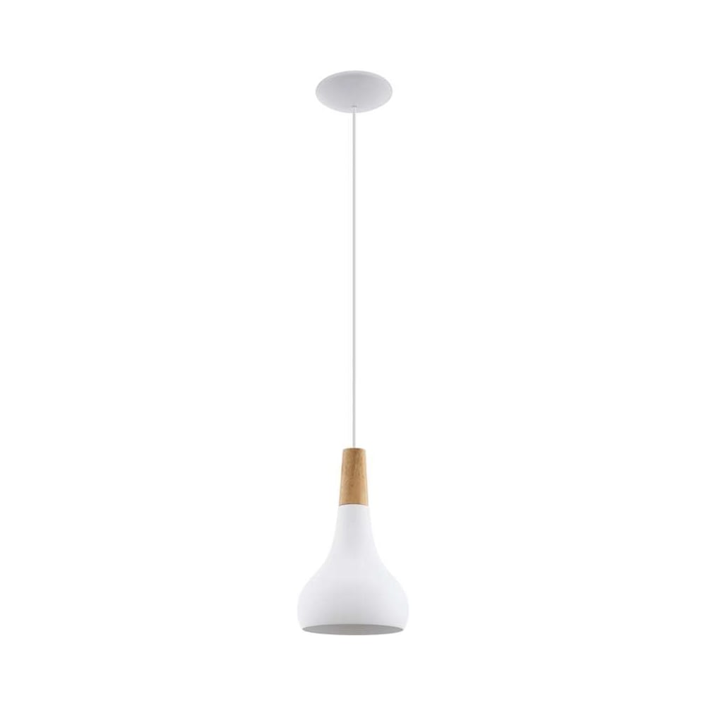 Eglo lighting sabinar contemporary ceiling pendant light in white sabinar contemporary ceiling pendant light in white finish with wood detail 96981 mozeypictures Image collections