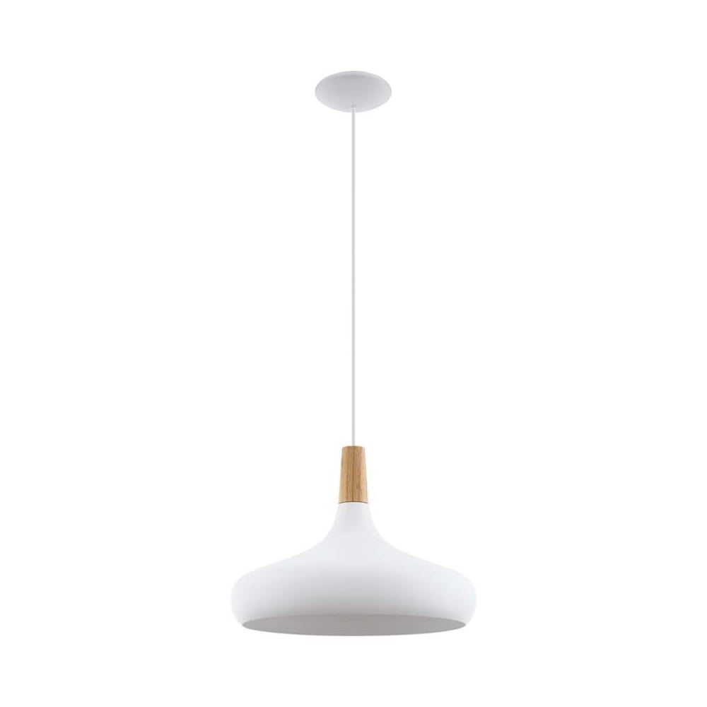 Sabinar Contemporary Large Ceiling Pendant Light In White Finish With Wood Detail 96983  sc 1 st  The Home Lighting Centre & Eglo Lighting Sabinar Contemporary Large Ceiling Pendant Light In ...