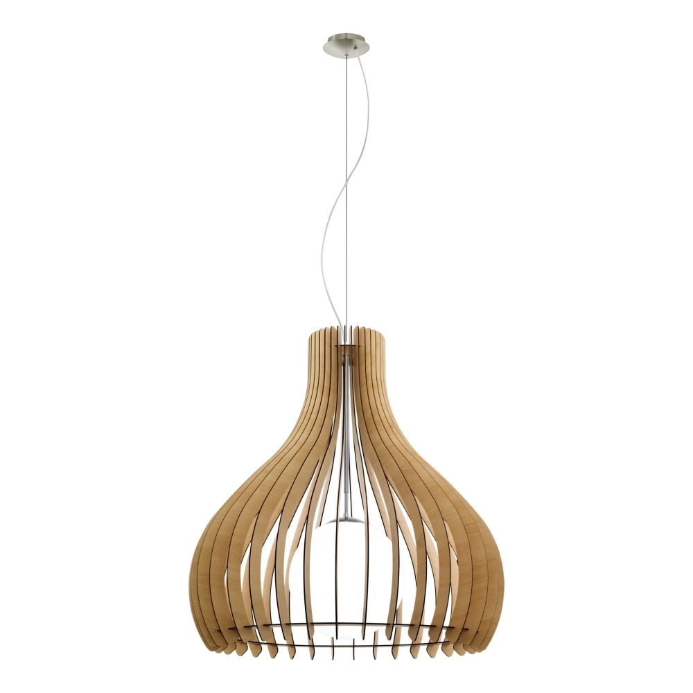 Tindori Extra Large Ceiling Pendant Light With Maple Wooden Shade 96216  sc 1 st  The Home Lighting Centre & Eglo Lighting Tindori Extra Large Ceiling Pendant Light With Maple ...