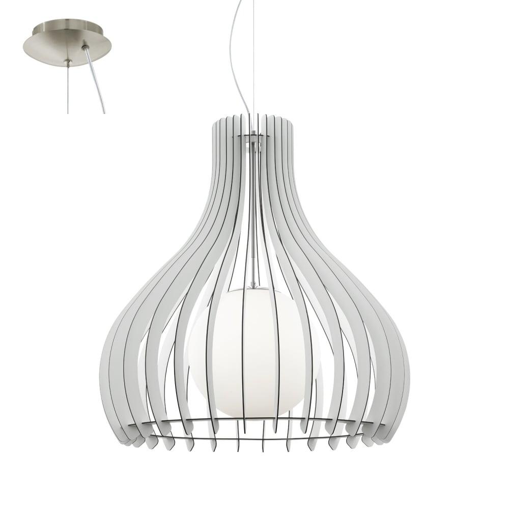 eglo lighting tindori extra large ceiling pendant light with white