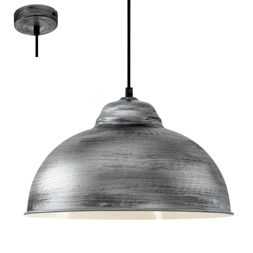 Eglo lighting truro 2 vintage ceiling pendant light in antique truro 2 vintage ceiling pendant light in antique silver finish 49389 mozeypictures Choice Image