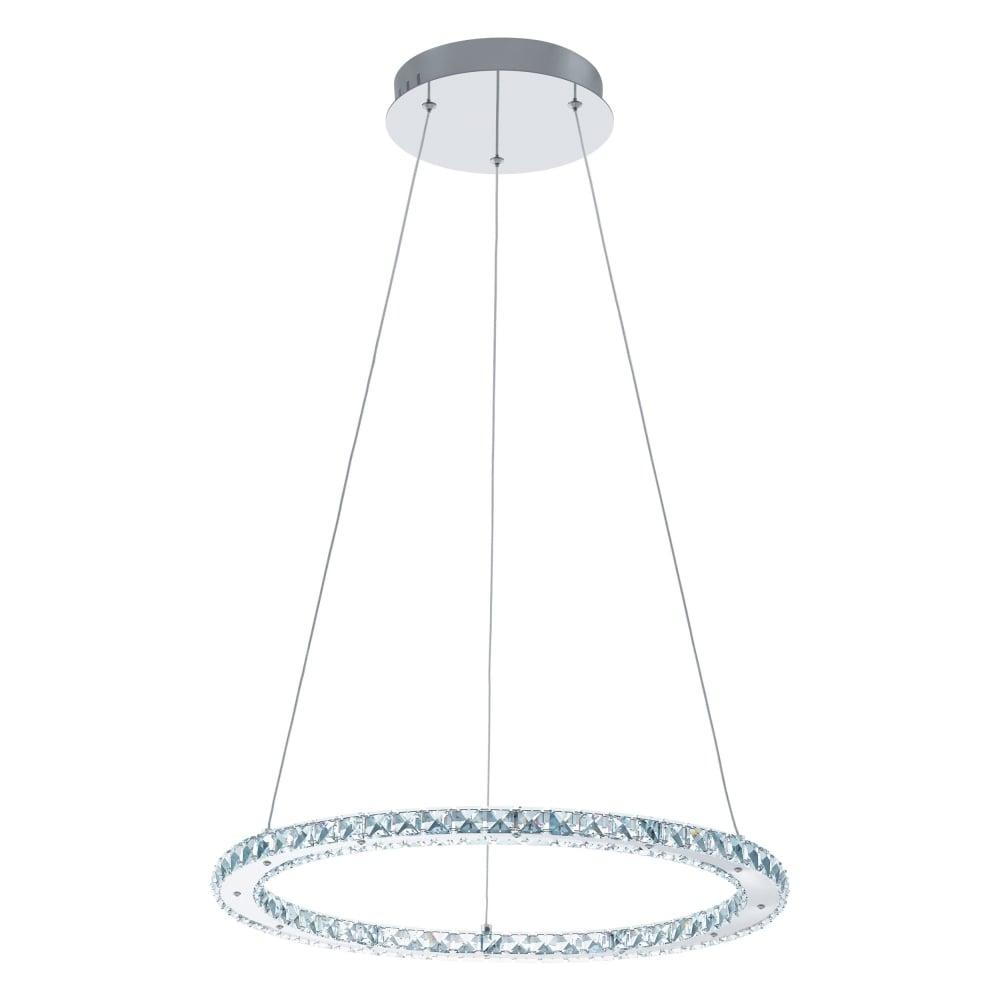 Eglo lighting varrazo modern led round crystal ceiling pendant light varrazo modern led round crystal ceiling pendant light in chrome 31668 mozeypictures Gallery