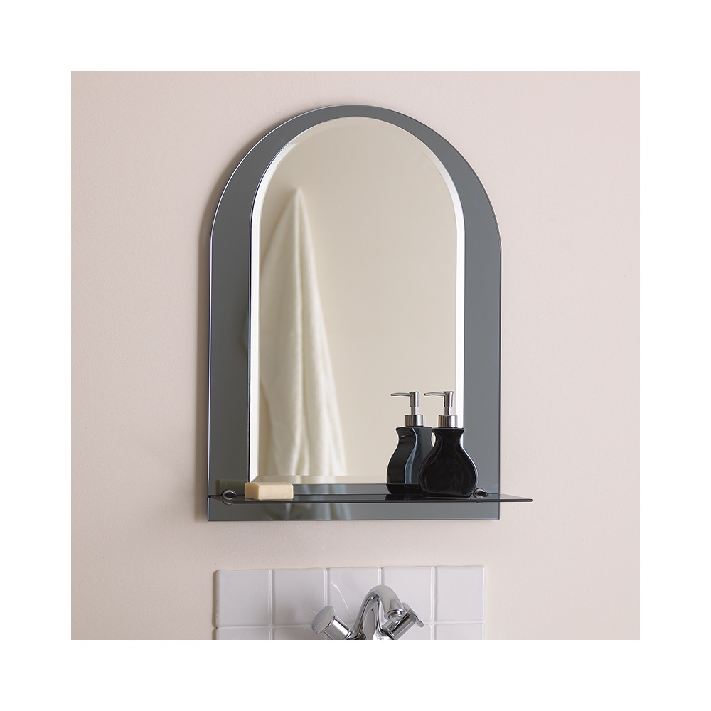 el lcaria bathroom mirror with chrome shelf lighting from the home