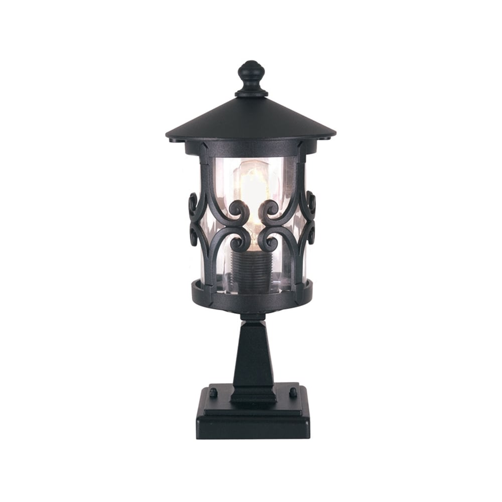 Elstead hereford outdoor pedestal light in black finish bl12 hereford outdoor pedestal light in black finish bl12 aloadofball Choice Image