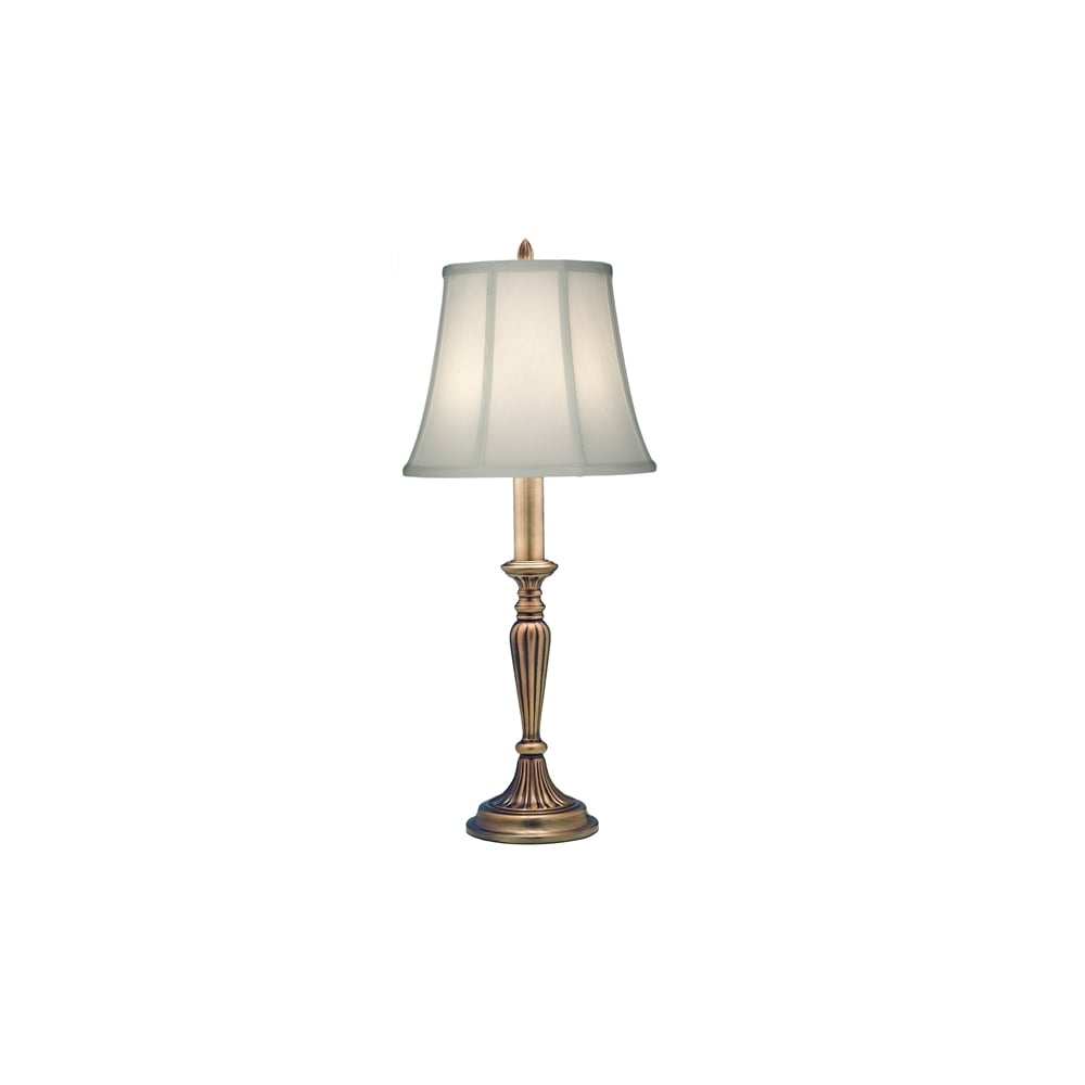 Rye Classic Table Lamp In Antique Brass Finish With Ivory Shade Sf Rye