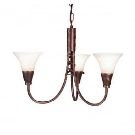 EM3 COPPER Emily three light ceiling pendant