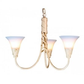 EM3 IVORY/GOLD Emily three light ceiling pendant