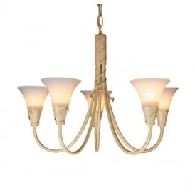 EM5 IVORY/GOLD Emily five light ceiling pendant