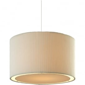 Emily Non Electric Easy Fit Single Ceiling Pendant Shade In Cream Finish 8312CR