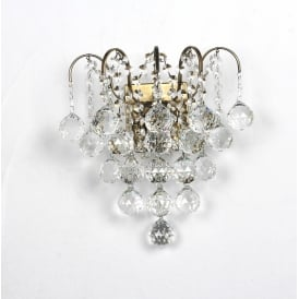 Emmie Crystal Wall Light In Antique Brass Finish CFH401091/02/WB/AB