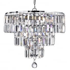 Empire 5 Light Crystal Chandelier in Chrome Finish 1375-5CC